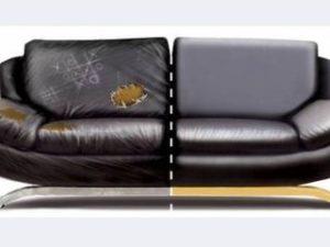 Перетяжка кожаного дивана во Владимире